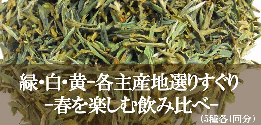 厳選茶5種(緑白黄)春を楽しむ飲み比べ